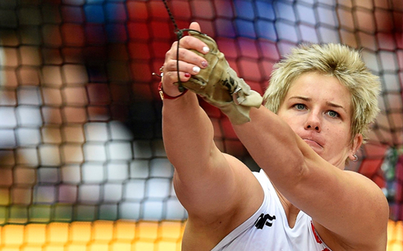 epa04898282 Poland's Anita Wlodarczyk competes in the women's Hammer Throw qualification during the Beijing 2015 IAAF World Championships at the National Stadium, also known as Bird's Nest, in Beijing, China, 26 August 2015.  EPA/FRANCK ROBICHON  Dostawca: PAP/EPA.